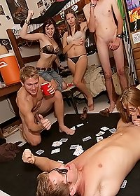 2 hot college babes make out and fuck each other in these dare to fuck college games