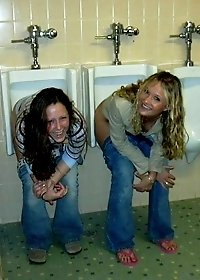 Dirty pics of hot cuties sitting in the WC