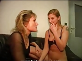 Hot mother-daughter's friend action (german)