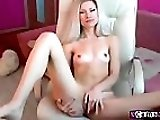 Hot Blonde Babe Toys and Rubs Her Pussy