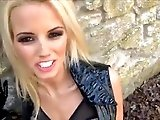 Sexy UK Blonde In Leather Dom's POV